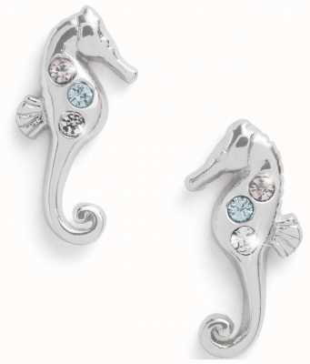 Olivia Burton Seahorse Sparkle Silver Stud Earrings OBJSCE36