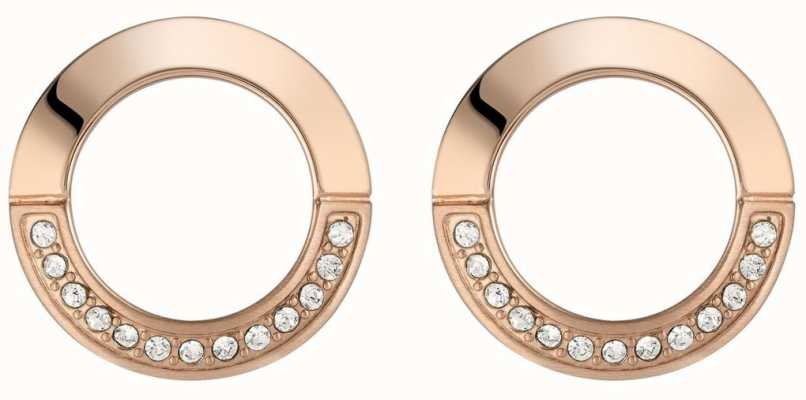 BOSS Jewellery Ophelia Rose Gold PVD Round Stud Earrings 1580028