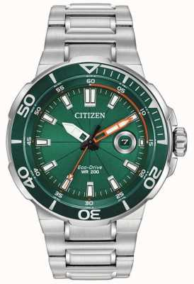 Citizen Men's Sport Green Dial Date Display AW1428-53X
