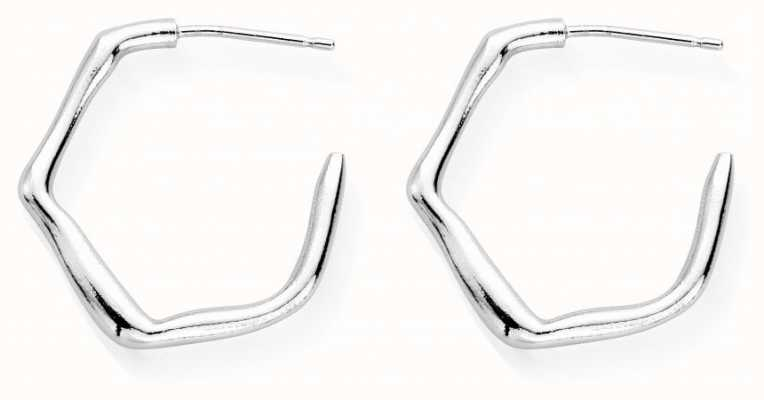 ChloBo Dancing Wave Small Hoop Earrings | Sterling Silver SEH3014
