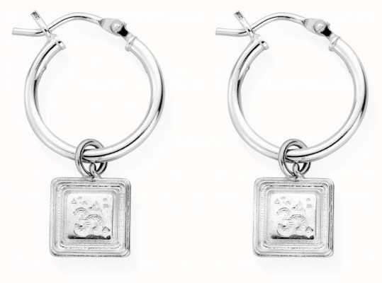 ChloBo Sacred Sound Hoop Earrings | Sterling Silver SEH3022