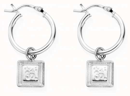 ChloBo Sacred Sound Hoop Earrings | Sterling Silver SEH3022
