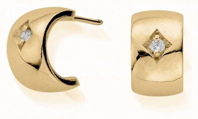 ChloBo Drop Of Hope Huggie Earrings | Gold GEH3047