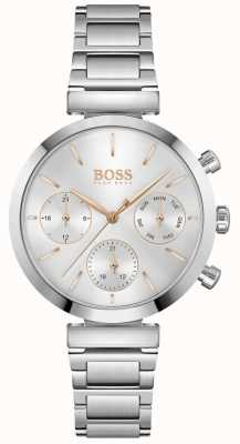 BOSS Flawless | Women's Stainless Steel Bracelet | Silver Dial 1502530