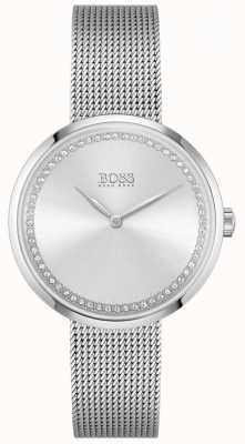 BOSS Praise | Women's Steel Mesh Bracelet | Silver Crystal Dial 1502546