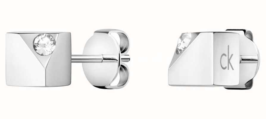 Calvin Klein Tune | Stainless Steel Swarovski Stud Earrings KJ9MME040600