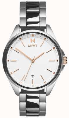 MVMT | Women's Coronada | Stainless Steel Bracelet | White Dial 28000001-D