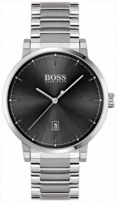 BOSS | Men's Confidence | Stainless Steel Bracelet | Black Dial 1513792