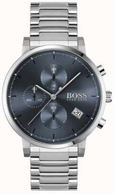 BOSS | Men's Integrity | Stainless Steel Bracelet | Blue Dial 1513779