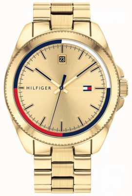 Tommy Hilfiger Riley | Gold IP Steel Bracelet | Gold Dial 1791686