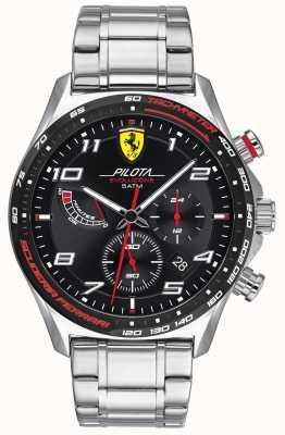 Scuderia Ferrari | Men's Pilota Evo | Stainless Steel Bracelet | Black Dial 0830720