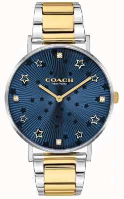 Coach | Women's Perry | Two-Tone Steel Bracelet | Blue Star Dial 14503523