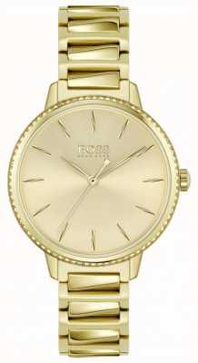 BOSS | Women's Signature | Gold Plated Steel Bracelet | Gold Dial 1502541