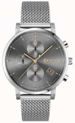 BOSS | Men's Integrity | Steel Mesh Bracelet | Grey/Black Dial 1513807