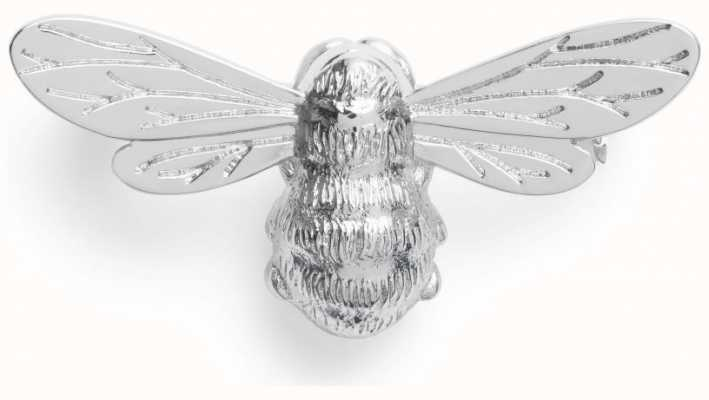 Olivia Burton Lucky Bee Silver Brooch OBPIN12N