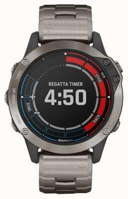 Garmin Quatix 6 Sapphire | Titanium Grey Strap GPS Marine Watch 010-02158-95