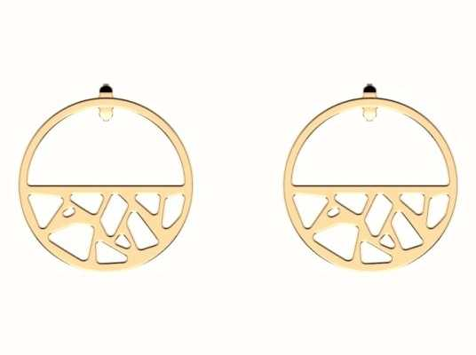 Les Georgettes 30mm Girafe Gold Plated Small Hoop Earrings 70347421900000