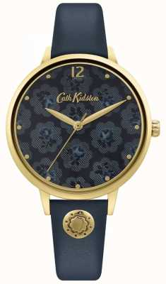 Cath Kidston | Women's Navy Blue Leather Strap | Floral Dial CKL093UG