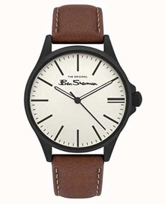 Ben Sherman | Men's Tan Leather Strap | Beige Dial BS033T