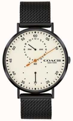 Coach | Men's Charles | Black Mesh Bracelet | White Dial 14602480