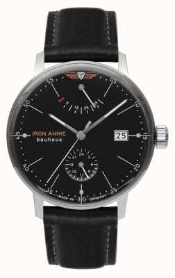 Iron Annie Bauhaus | Automatic | Black Leather Strap | Black Dial 5060-2