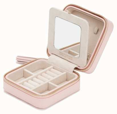 WOLF Caroline Rose Quartz Zip Travel Jewellery Case 329915