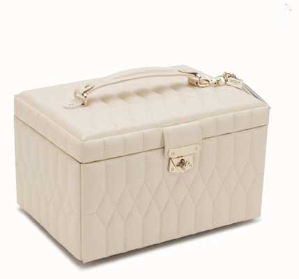WOLF Caroline Ivory Medium Jewellery Box 329753