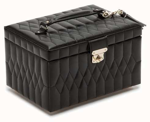 WOLF Caroline Black Medium Jewellery Box 329771