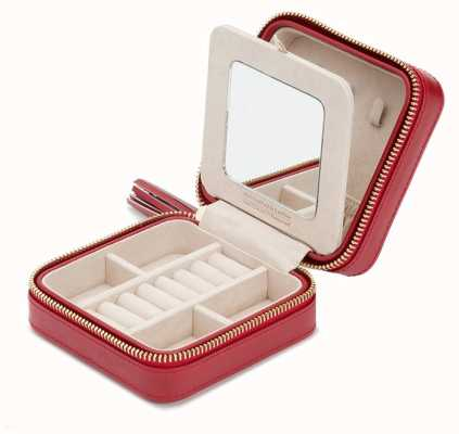 WOLF Caroline Red Zip Travel Jewellery Case 329972