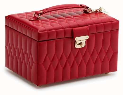 WOLF Caroline Red Medium Jewellery Box 329772