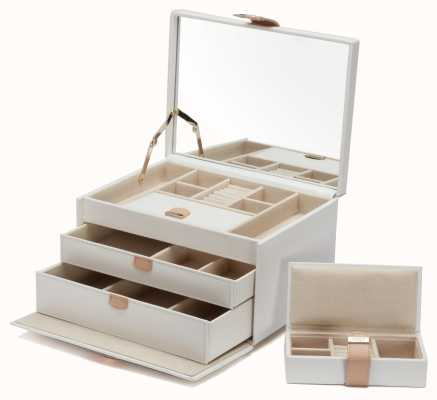 WOLF Chloe Cream Medium Jewellery Box 301053