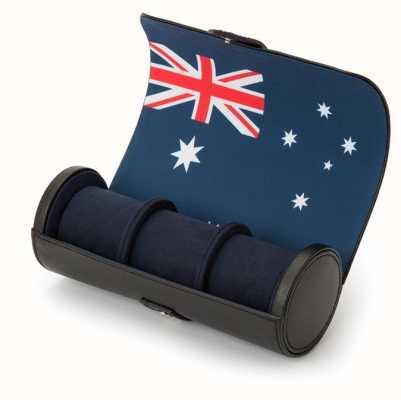 WOLF Navigator Australian Flag Triple Watch Roll 470004