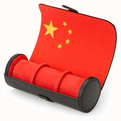 WOLF Navigator Chinese Flag Triple Watch Roll 470204