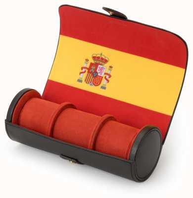 WOLF Navigator Spanish Flag Triple Watch Roll 470704