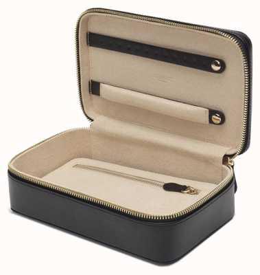 WOLF Marrakesh Black Zip Jewellery Case 308602
