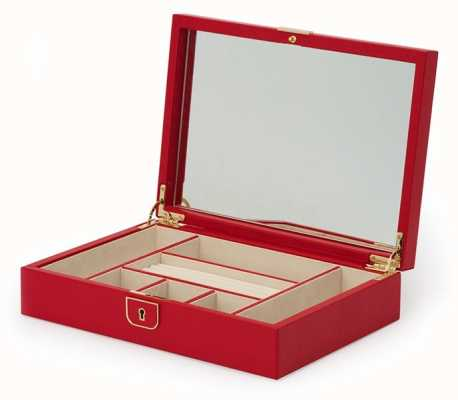 WOLF Palermo Red Medium Flat Jewellery Box 213272