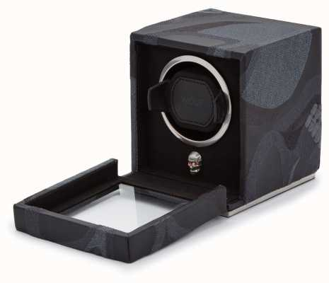 WOLF Memento Mori Black Cub Watch Winder With Cover 493102