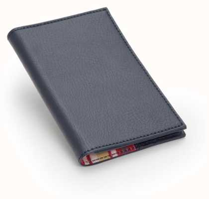 WOLF Howard Navy Passport Holder 466517