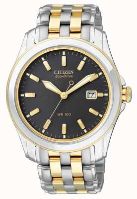 Citizen Mens Eco-Drive Black Dial Watch BM6734-55E