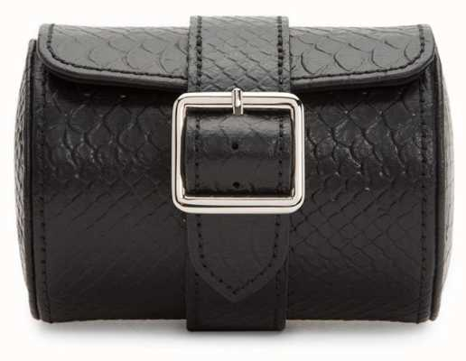 WOLF Exotic Black Single Watch Roll With Buckle 462720