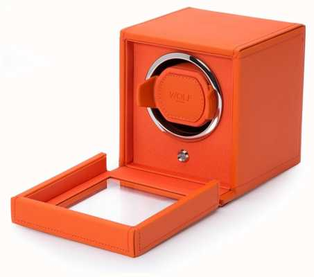 WOLF Cubs Orange Single Watch Winder With Cover 461139
