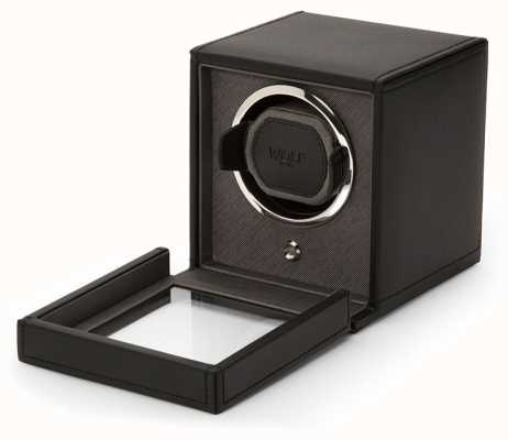 WOLF Cubs Black Single Watch Winder With Cover 461103