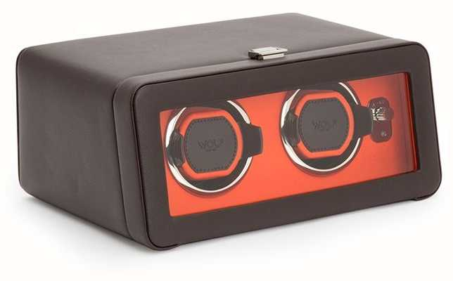WOLF Windsor Brown/Orange Double Winder With Cover 452606