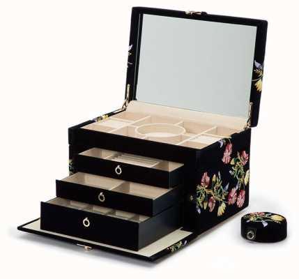 WOLF Zoe Indigo Large Jewellery Box 393016