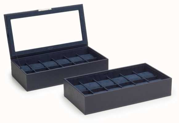 WOLF Stackable Watch Tray Navy 12Pc Set Of 2 319717