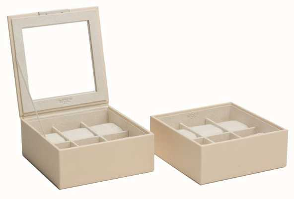 WOLF Stackable Watch Tray Cream 6Pc Set Of 2 319653