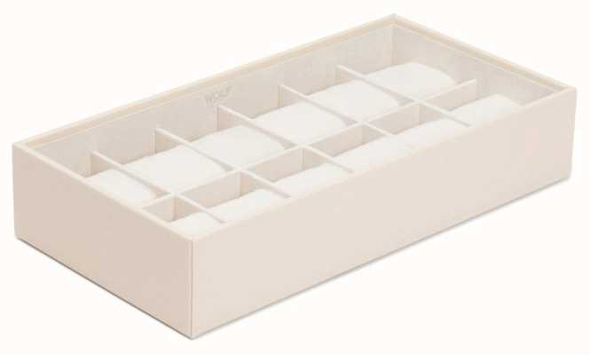WOLF Stackable Watch Tray Cream 12Pc Standard 309953