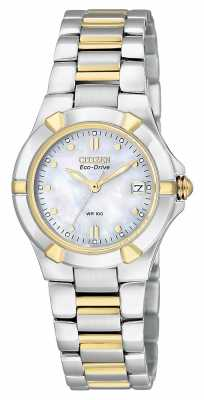 Citizen Womens Riva Two-Tone Steel Case Eco-Drive EW1534-57D
