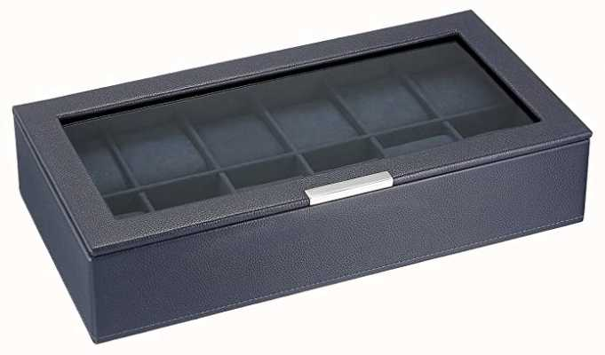 WOLF Stackable Watch Tray Navy 12Pc With Lid 309817