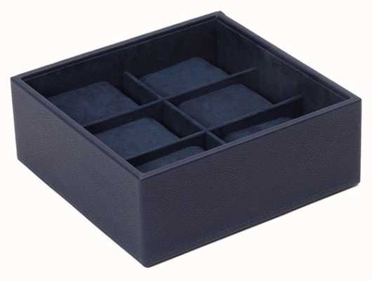 WOLF Stackable Watch Tray Navy 6Pc Standard 309717